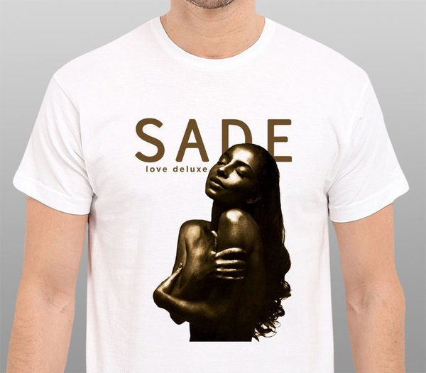 NEW! SADE Love Deluxe Logo T-SHIRT S-3XL T Shirt Discount 100 % Cotton T Shirt for Men'S Round Neck Men Top Tee PLUS SIZE