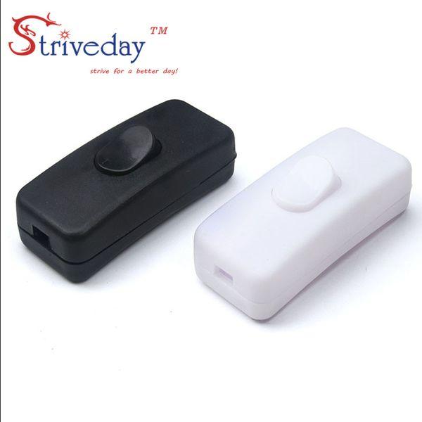 10 teile / beutel Hohe Qualität Schwarz Weiß 303 Schalter Halfway Rocker Push Button Wippschalter Tischlampe Online