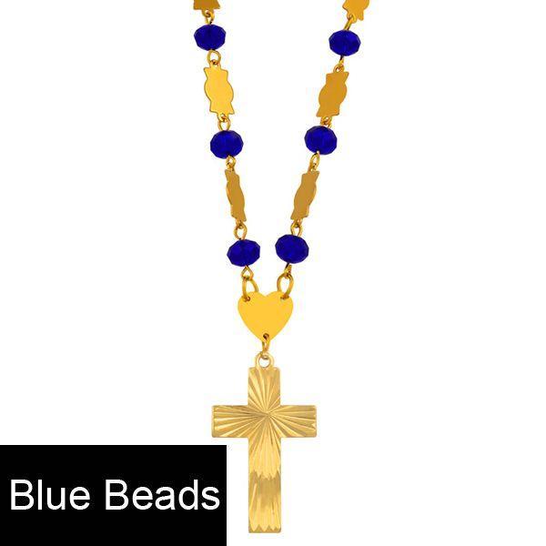 Perles Bleues 63cm Chaîne