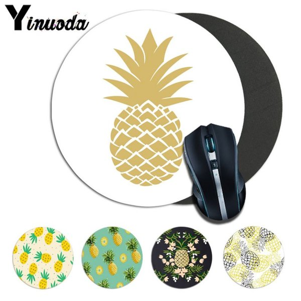 Yinuoda pineapple Computer Gaming Lockedge Mousemats Size for 200*200*2mm and 220*220*2mm round mousepad Game Mousepad