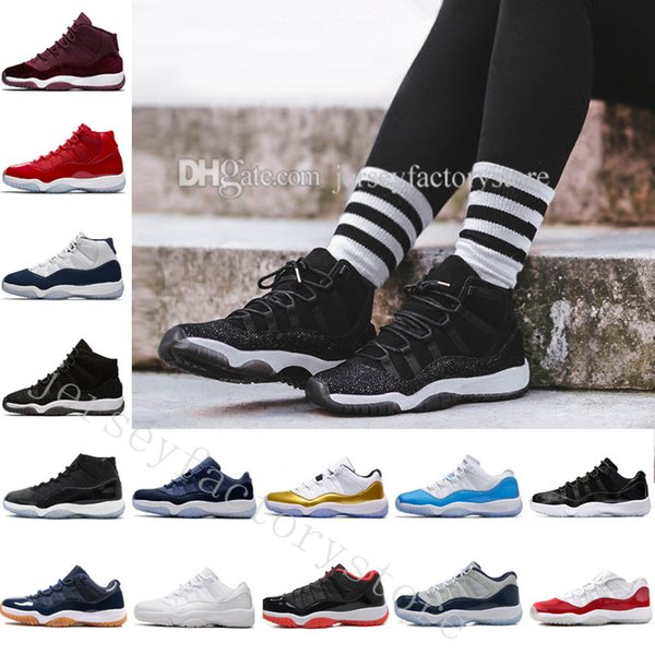 2018 11 space jam 45 basketball shoes men women 11s space jam with number 45 sports sneakers with shoes box us 5.5-13 eur 36-47
