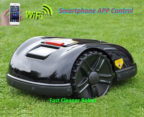 5th Gerneation Robot Grass Cutter Lawn Mower Robot E1600T with 200m virtual wire and 200pcs pegs +4pcs extra Free blade