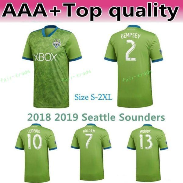 2018 2019 MLS Seattle Sounders Jersey Uomo Soccer 2 DEMPSEY 13 MORRIS 29 TORRES 6 ALONSO 17 BRUIN Kit maglia calcio Team Green