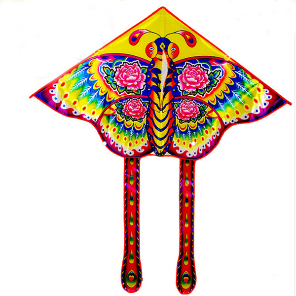 free shipping high quality children kite butterfly kite with handle line ripstop bird toy animal windsock flugdrachen