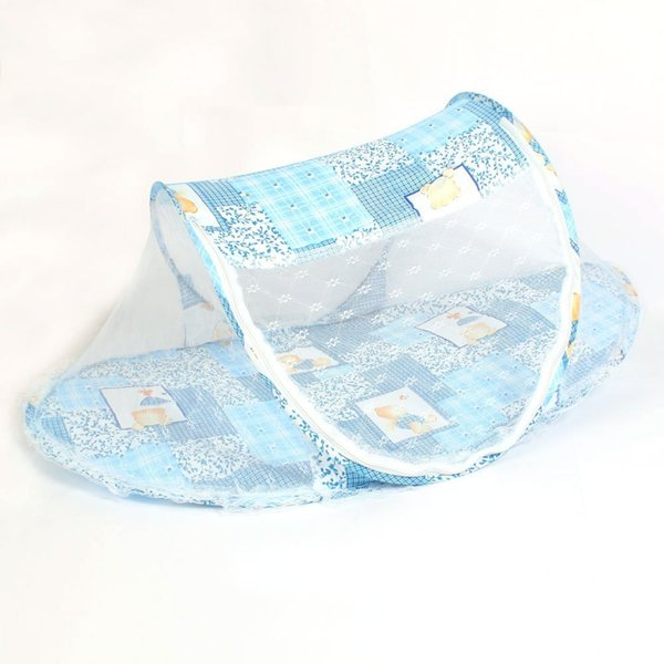 5 pack Foldable Toddler Kids Infant Baby Safty Mosquito Net Netting Crib Bed Playpen Play Tent Blue