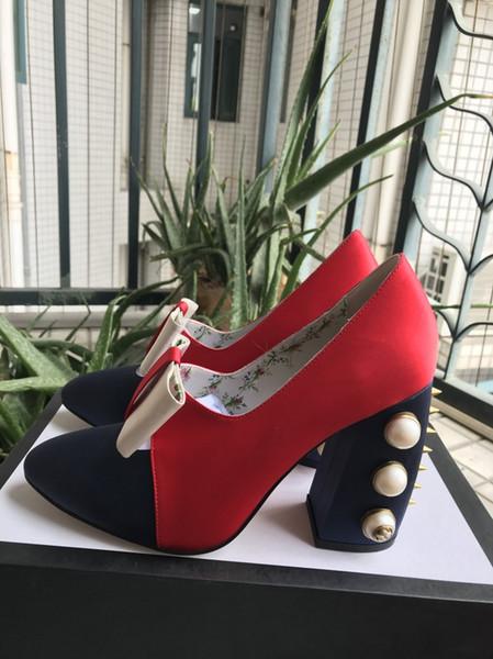 001Nubuk deri Tıknaz topuk Bahar kadın Pompaları Seksi lady Kalın topuk Yuvarlak ayak Parti Elbise ayakkabı 34-39