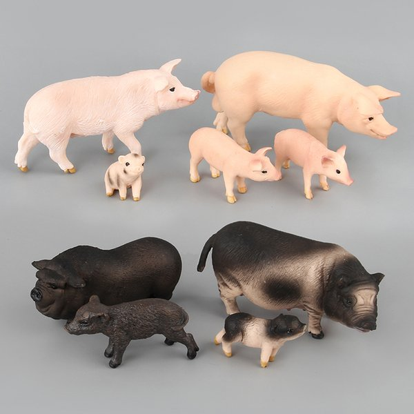 Zoo Animal Model Set PVC Toy Kingdom Plastique Ferme Animal Porc Famille à vendre Faune Jouets