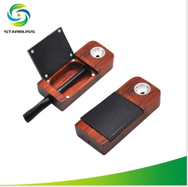 Juego de fumar de madera portátil extraíble para tubos de madera clásicos