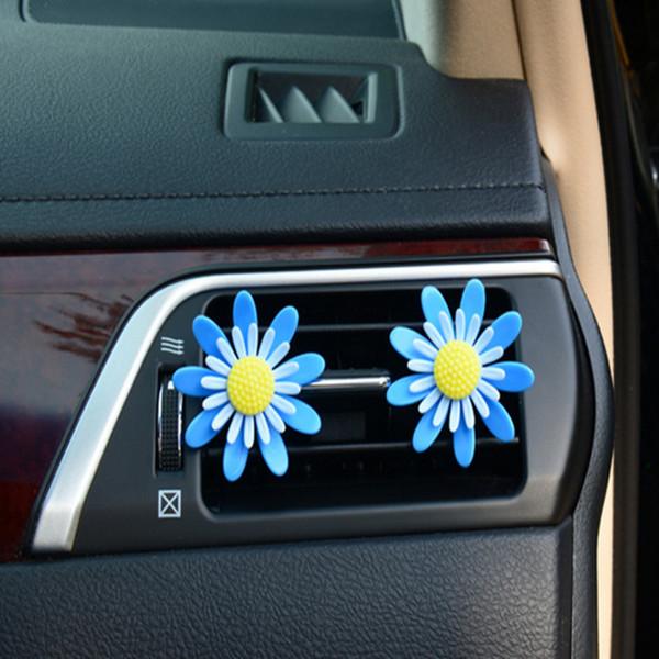 Автомобиль Кондиционер Вентиляционные Духи Вращающиеся Небольшие Цветы Автомобиля Аромат, Кроме Запаха Воздуха На Выходе Украшения Твердый Аромат 5 Пар