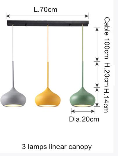 3 lamp linear canopy