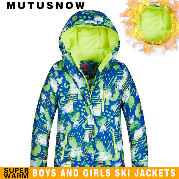 Kayak ceket çocuk marka yeni yüksek kalite çocuk rüzgar geçirmez su geçirmez snowsuit kış erkek kayak ve snowboard ceket