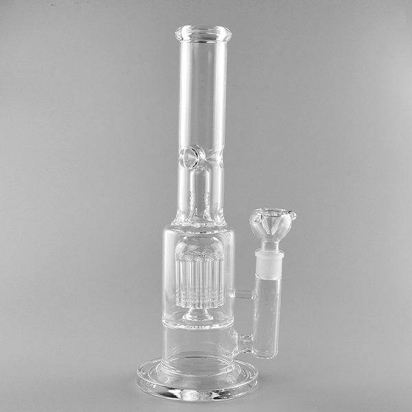 Affordable clear transparent glass water pipes height honeycomb 18mm female joint high quanlity for smoking use hookah