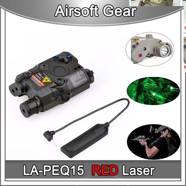 Tactical LA-PEQ15 RED Dot Laser Jagd Taschenlampe LED Airsoft PEQ15 Taschenlampe IR Laserlicht PEQ 15 LED Paintball Lampe Für GBB / AEG Wargame