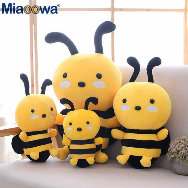 Miaoowa 20-30 cm Kawaii Honeybee Plüschtier Nette Biene mit Flügeln Gefüllte Babypuppen Schönes Spielzeug für Kinder Beschwichtigen Geburtstagsgeschenk