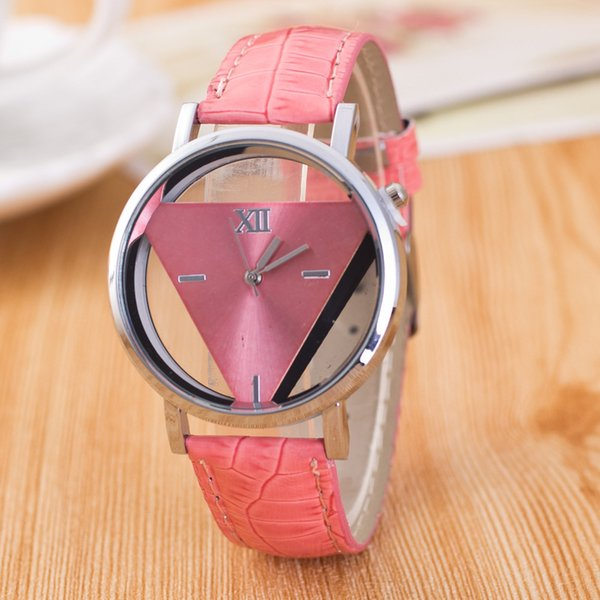 New Fine Time Simple Harajuku Classic Triangle Watch Personality Fashion Double-Sided Hollow Trend Wild Hot Student