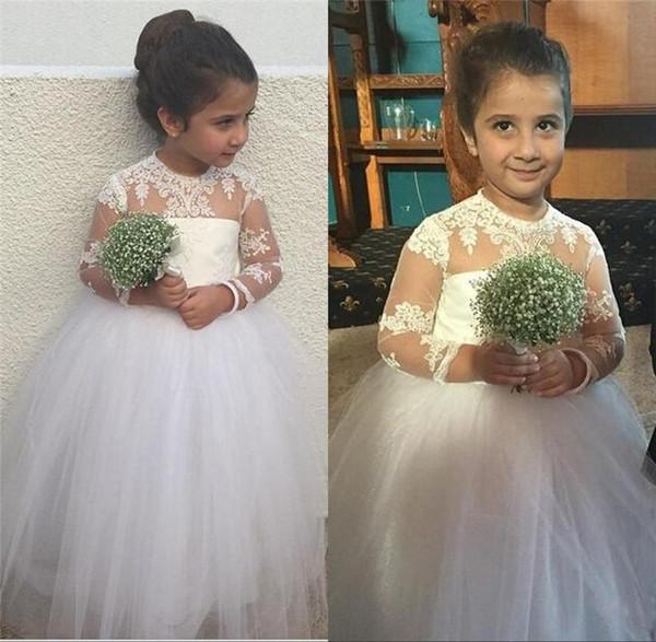 Дети Формальное Свадебное Платье Девушки Цветка Платье Тюль Brithday Кружева Принцесса Дети Юбка M185