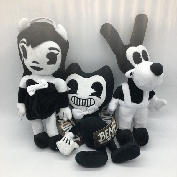 30cm bendy bori alice angel plu h doll ink machine thriller plu h doll oft tuffed figure for kid toy aaa148