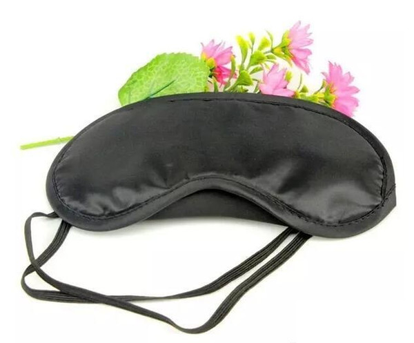 best selling 2500Pcs Shade Eyeshade Sleep Rest Travel Eye Masks Nap Cover Blindfold Skin Health Care Treatment Black Sleep Free shipping