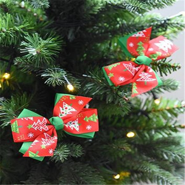 3PC/Set DIY Bows Christmas Tree Toppers Shopwindow Display Shope Decor Gift Box Packing Decoration Shopping Gift Bags Suppliers