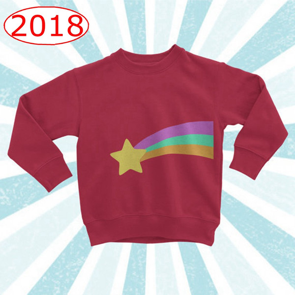 best selling INS Baby Boys Girls Red Cotton Sweatshirt Rainbow Star Pattern spring autumn Girls Tops Brand Christmas Sweater Children T shirts