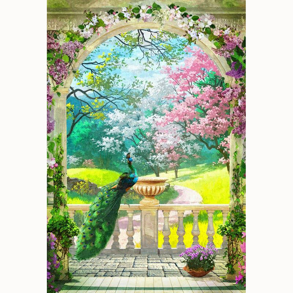 5D Diy cross stitch, diamond embroidery, home decor, crafts, gifts, embroidery rhinestones, painting, garden corridor, peacock