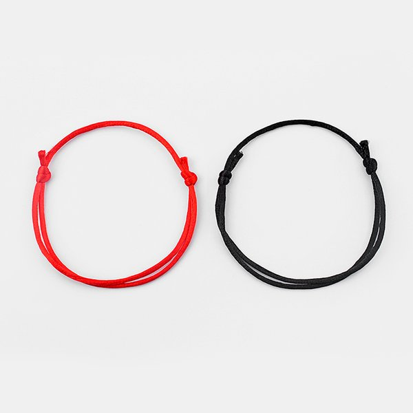 2 Pieces Handmade Red/Black String Kabbalah Lucky Bracelet Against Eye Success