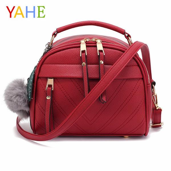 YaHe Ladies Handbags PU Leather V Design Shoulder Bags For Women 2018 Brand Designer Large Capacity Crossbody Bag Casual Totes