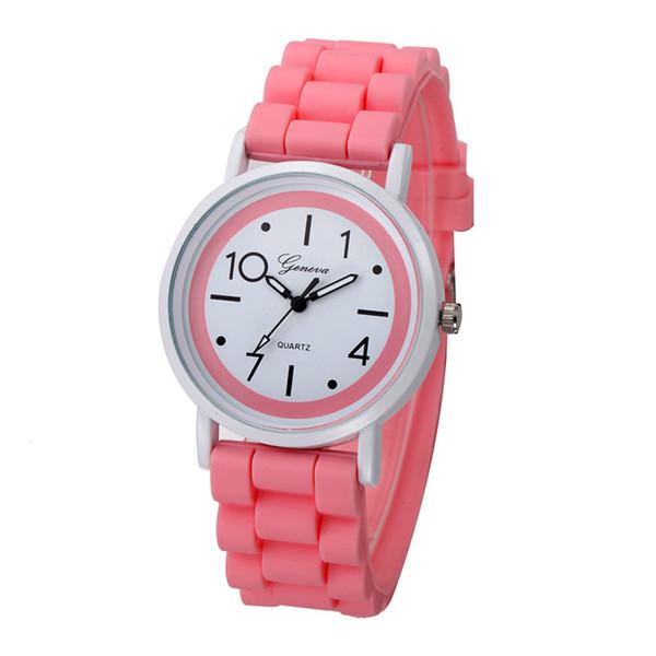 Superior Women Watches relogio Geneva Roman Numerals Silicone Jelly Gel Quartz Analog Watch Dorp Shipping
