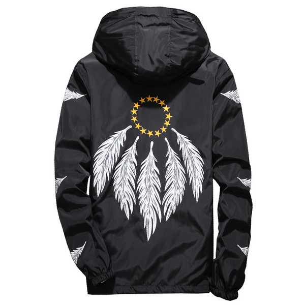 2018 Fashion Feather Wind Breaker Jacket Summer Thin Lightweight Jackets Asian Plus Size M-7XL Mens Jackets and Coats