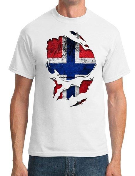 2018 Yeni Moda Sokak Hip Hop Spor Norveç Norveç Ripped Etkisi altında düğme T Shirt Yuvarlak Boyun 100% Pamuk Klasik tee