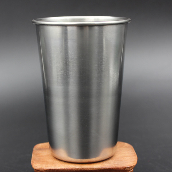 top popular 16oz Single Wall Stainless Steel Pint Glasses beer mug metal cup Perfect for Travel, Outdoor, Camping and Everyday Use Indoors 2021