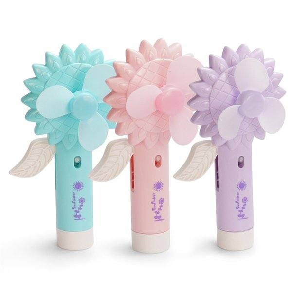 Water Spray Fan Summer Hand Pressure Mini Small Office Sunflower Shape Humidification Children Kid Toy Portable 4 6ts V