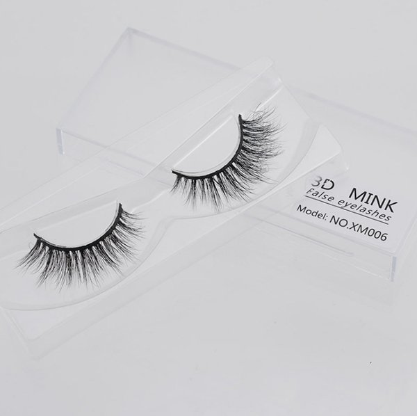 1Pair 100% Real Siberian 3D Mink Full Strip False Eyelash Long Individual Eyelashes Mink Lashes Extension handmade eyelash natural Long 3Dla