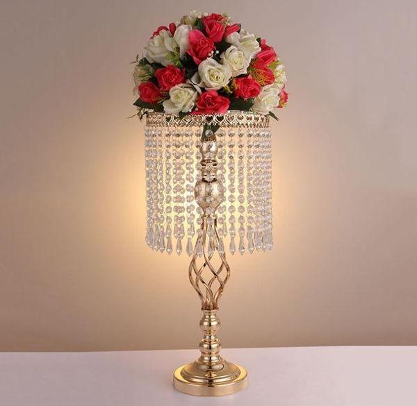 Rhinestone Candelabra Wedding Party Elegant Candle Holder Pretty Table Centerpiece Vase Stand Crystal Candlestick Wedding Decoration
