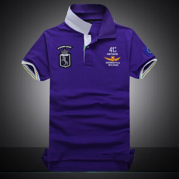 top popular 2018 Poloshirt Solid Polo Shirt Men Luxury Polo Shirts Long Sleeve Men's Basic Top Cotton Polos For Boys Brand Designer Polo Homme MP003 2019