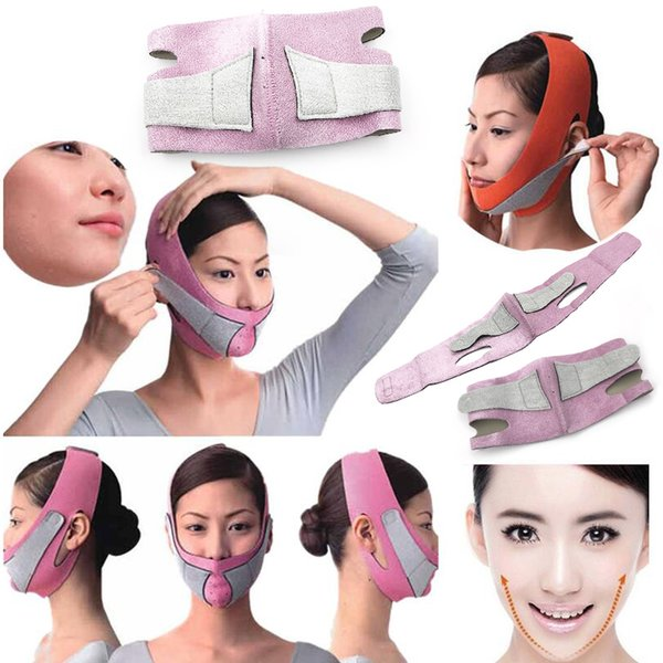 50pcs DHL Face Lift Tools Thin Face Mask Slimming Facial Thin Masseter Double Chin Skin Thin Face Bandage Belt Women Skin Care Beauty Kit
