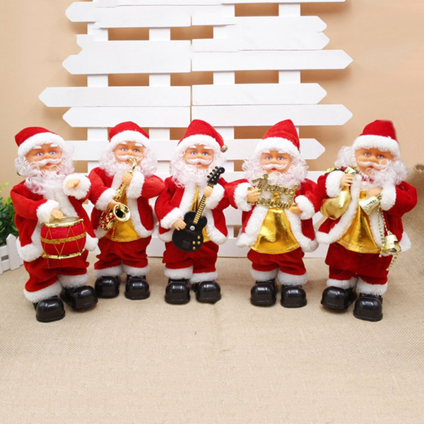 HOT! Christmas Festival Children Gifts Christmas Decor Ornaments Funny Music old man 30cm Electric Dancing Santa Claus