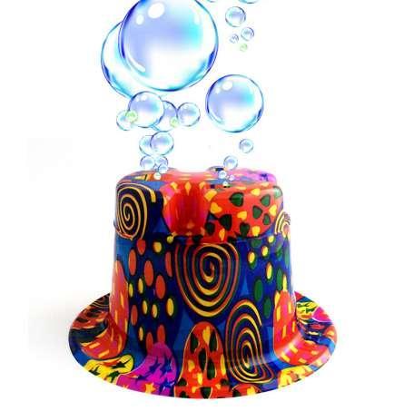 20 set 2018 new hot the bubble playing hat adult or kids automatic electric bubble blowing hat 27*24*12cm soap bubble gun d10