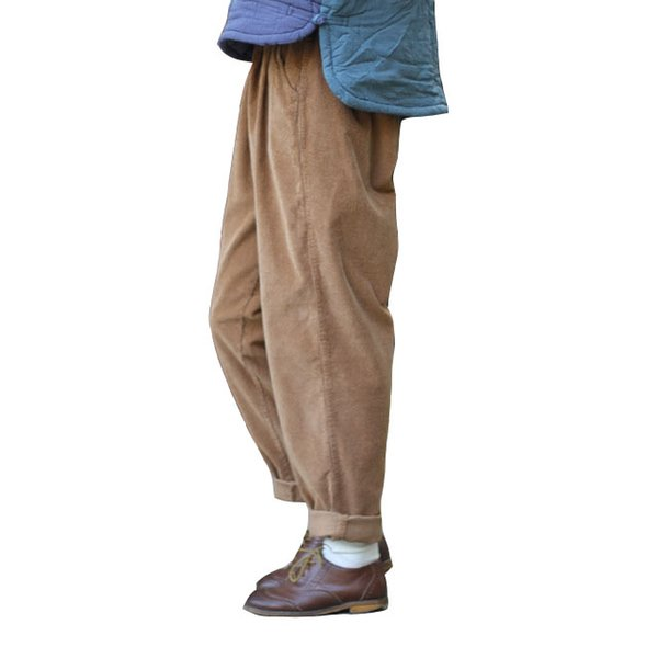 Зимние брюки Pantalon Femmes Гарем Широкий Ног Повседневный Свободный Полный Длина Крест Брюки для Женщин Толстые Вельветовые Штаны