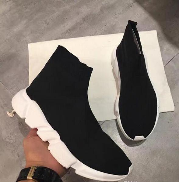 Nombre Marca de Alta Calidad Unisex Zapatos Casuales Calcetines de Moda Planos Botas de Mujer Nueva Slip-on Elástico Pañuelo de Tela Trainer Runner Hombre Zapatos al aire libre