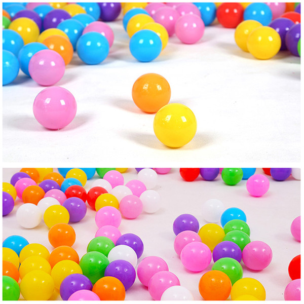 top popular 100pcs lot Eco-Friendly Colorful Soft Plastic Water Pool Ocean Outdoor Fun Sports 2020