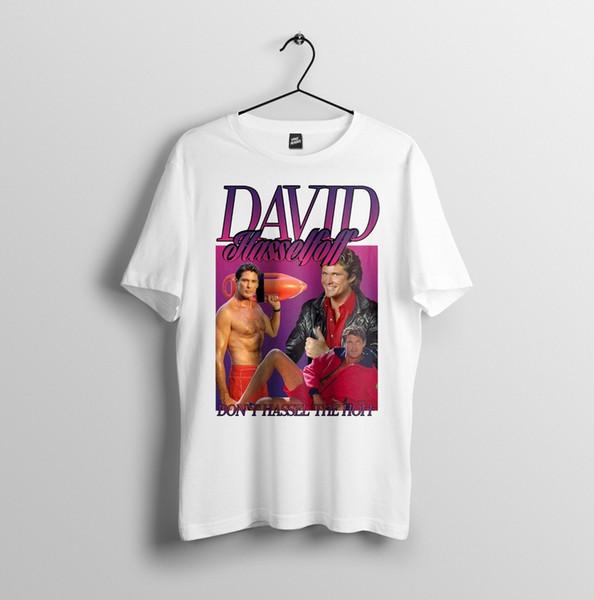 David Hasselhoff, Meme Paródia Homenagem Do Vintage Engraçado-Mens Unisex T-Shirt S-2XL Engraçado frete grátis Unisex Casual presente t shirt