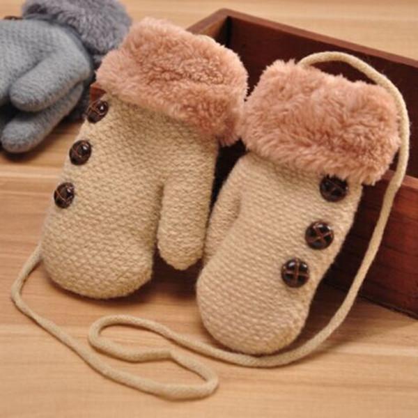 Winter warme Kinder Kinderhandschuh Handschuhe Strickstoff Doppel verdickt alle Cover Finger Kinder Handschuhe für Jungen und Mädchen