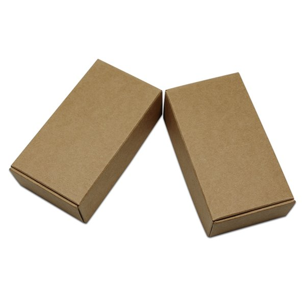 30pcs Retail Paper Box Natural Brown Gifts Wrapping Box Kraft Paperboard Party Event Package Carton for Jewelry Crafts Bracelet