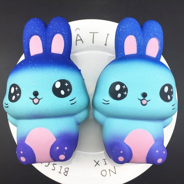 Fidget PU Starry sky rabbit Squishy toys 2018 New Slow rebound squishy Simulation Funny Gadget Vent Decompression toy B001