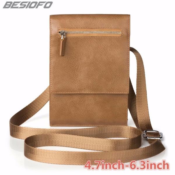 Zipper Holster Cover Double Pockets Pouch With Belt PU Shoulder Bag Phone Case For LG G2 G3 G4 G5 G6 G7 G8 V20 V30