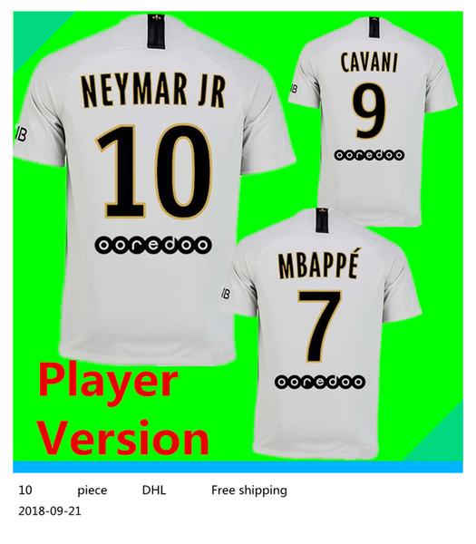 0eb8eda2e Player Version PSG  10 NEYMAR JR Away Soccer Jersey 2019 Paris Saint-Germain  Away