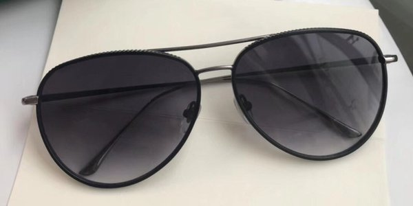 Luxury 0356 Sunglasses For Men And Women Design Popular Fashion 0356 Oval Leather Frame Style Top Quality UV Protection Lens Come With Case