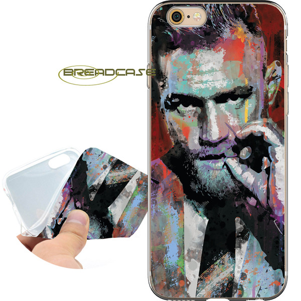 Fundas Conor McGregor Paint Cases for iPhone 10 X 7 8 6S 6 Plus 5S 5 SE 5C 4S 4 iPod Touch 6 5 Clear Soft TPU Silicone Cover.