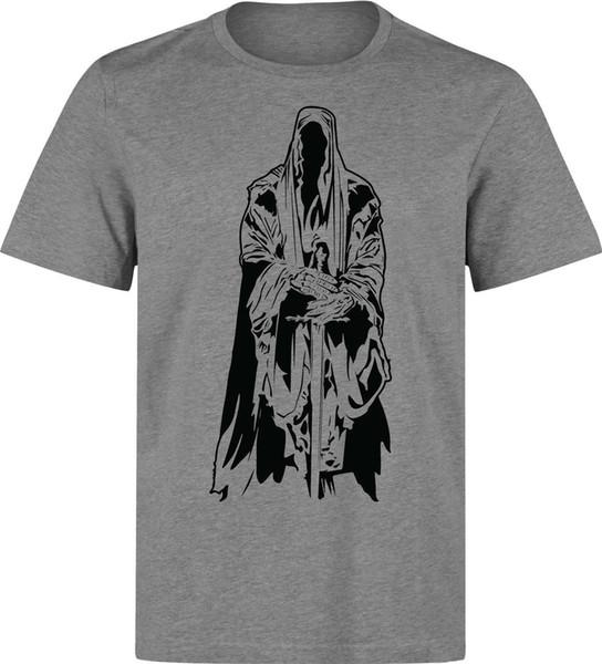 Yüzüklerin Efendisi Nazgul minimalist sanat erkek (kadının mevcut) gri tişörtlü 2018 Yeni Moda Erkek T-shirt Kısa Kollu